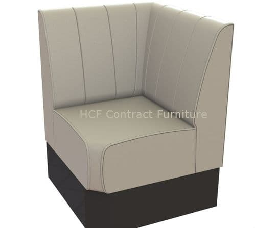 Single Corner Seat Kansas Fluted - 700mm Booth
