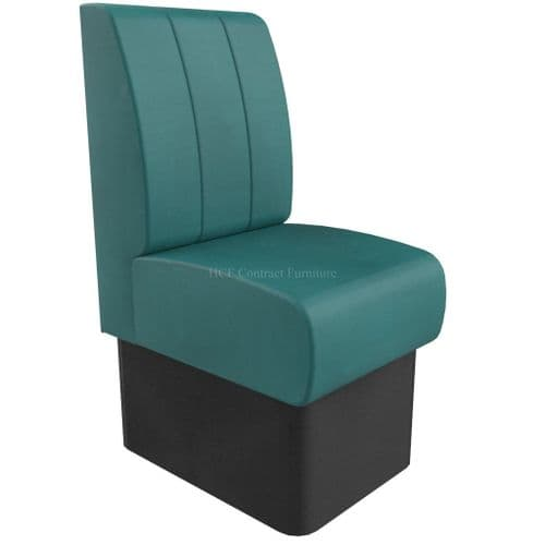 Single Seater Kansas Fluted - 450mm Booth