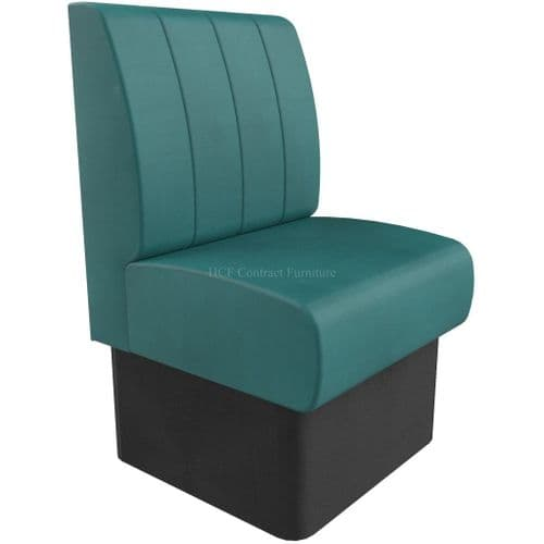 Single Seater Kansas Fluted - 600mm Booth