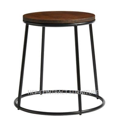 Spruce Low Stool (P) Jacobean Seat/Black
