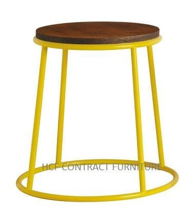 Spruce Low Stool (P) Jacobean Seat/Yellow
