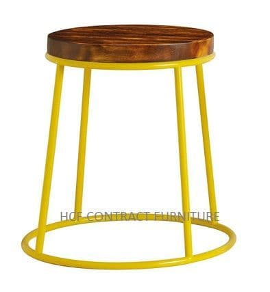 Spruce Low Stool (P) Rustic Pine/Yellow