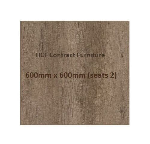 Square 600 x 600mm Distressed Oak Style