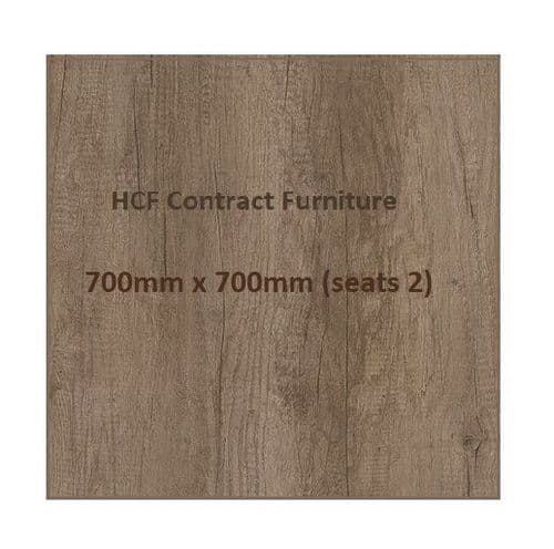 Square 700 x 700mm Distressed Oak Style