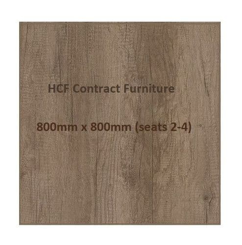 Square 800 x 800mm Distressed Oak Style