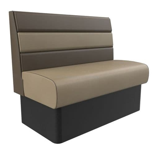 Standard Height Texas Horizontal Fluted 2 Seater - 1200MM Booth