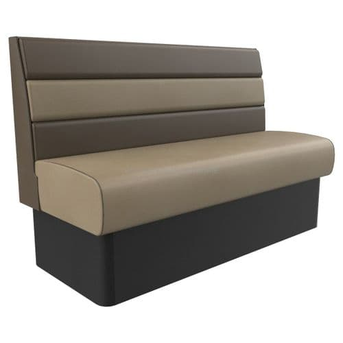 Standard Height Texas Horizontal Fluted 3 Seater - 1500MM Booth