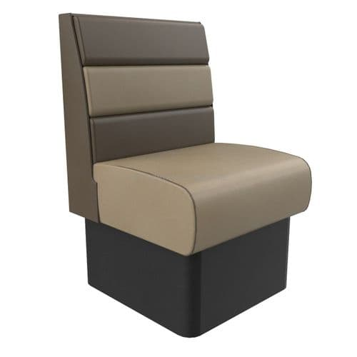 Standard Height Texas Horizontal Fluted Single Seater - 600MM Booth