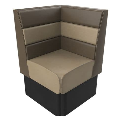 Standard Hight Texas Horizontal Fluted Corner Seat - 700mm Booth