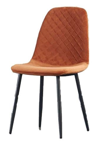 Steppe Upholstered Armchair - (Fabric) Orange