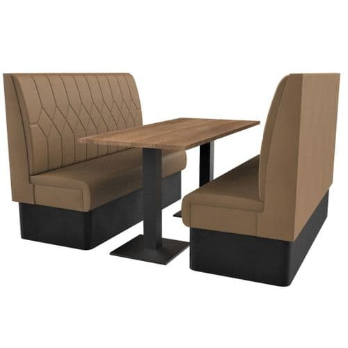 Supreme Diamond Quilted High Back - 6 Seater Booth Set 1500mm