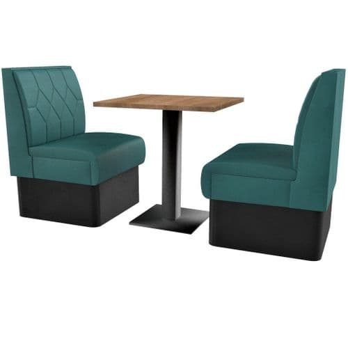 Supreme Diamond Quilted Standard Height - 2 Seater Booth Set 600mm