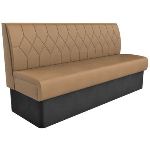 Supreme Diamond Quilted Standard Height - 3 - 4 Seater - 1800mm Booth