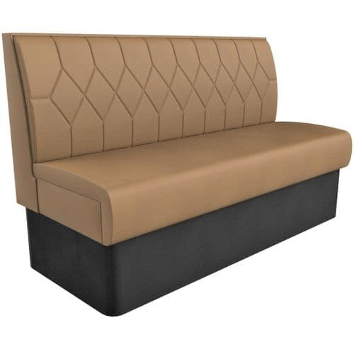 Supreme Diamond Quilted Standard Height - 3 Seater - 1500mm Booth