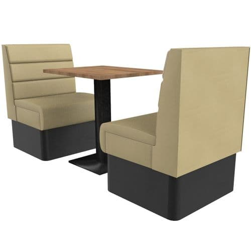 Supreme Horizon Standard Height - 2 Seater Booth Set 600mm