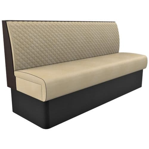 Supreme Quilted Standard Height - 3 - 4 Seater - 1800mm Booth