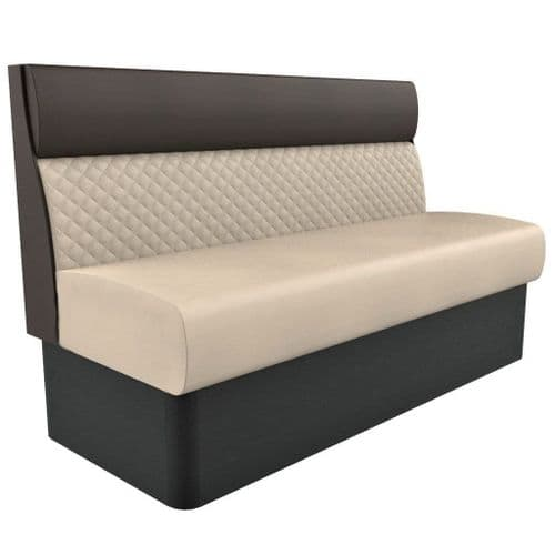 Supreme Quilted Standard Height - 3 Seater - 1500mm Booth