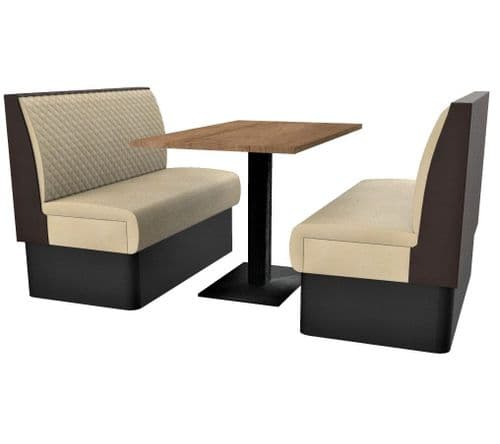 Supreme Quilted Standard Height 4 Seater Booth Set 1200mm