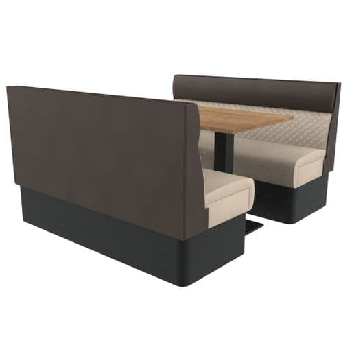 Supreme Quilted Standard Height 6 Seater Booth Set