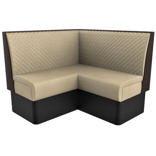 Supreme Quilted Standard Height - Single Corner Seat - 1200mm Booth