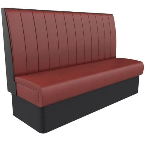 Supreme Stitch Fluted High Back - 3 - 4 Seater - 1800mm Booth