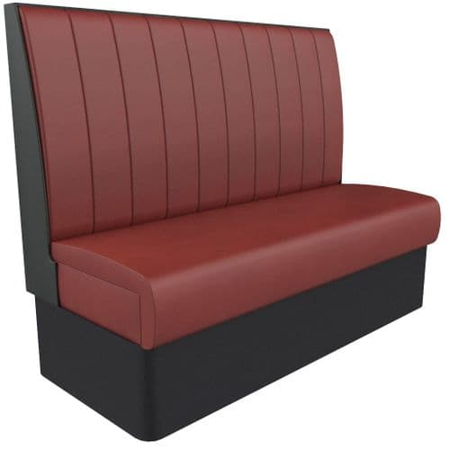 Supreme Stitch Fluted High Back - 3 Seater - 1500mm Booth