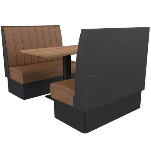 Supreme Stitch Fluted High Back - 4 Seater Booth Set 1200mm
