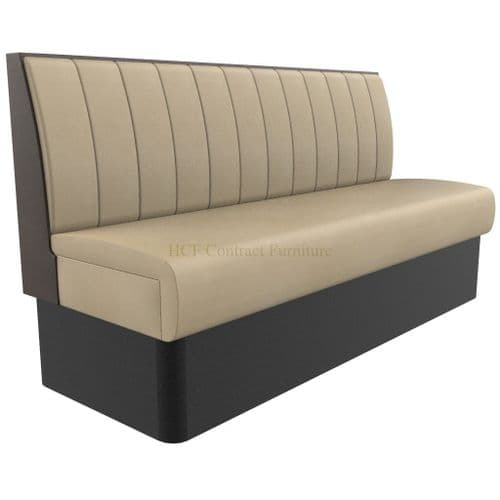 Supreme Stitch Fluted Standard Height - 3 - 4 Seater - 1800mm Booth