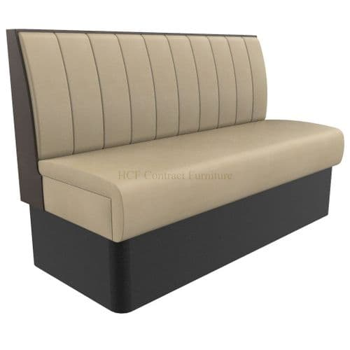 Supreme Stitch Fluted Standard Height - 3 Seater - 1500mm Booth