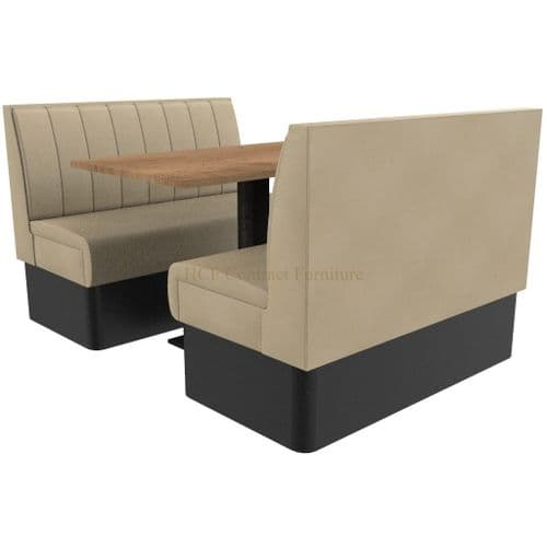 Supreme Stitch Fluted Standard Height - 4 Seater Booth Set 1200mm