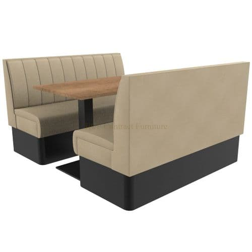Supreme Stitch Fluted Standard Height - 6 Seater Booth Set