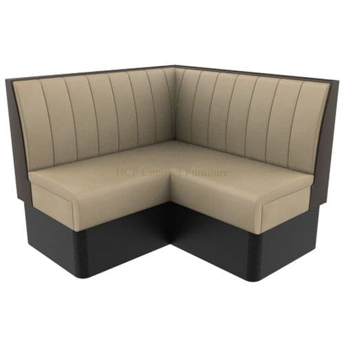 Supreme Stitch Fluted Standard Height -  Corner Seat - 1200mm Booth
