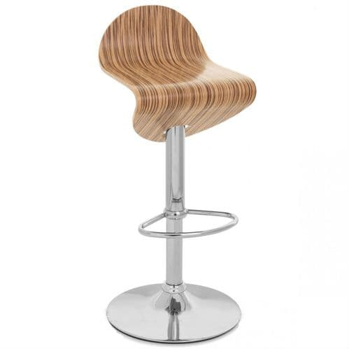 TTF902 Chrome, Zebra or Walnut gaslift stool