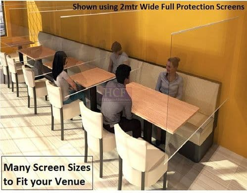 VirusGuard. Hanging Flexible Screens - Large Range of Sizes. With Instant Fix Hanging System