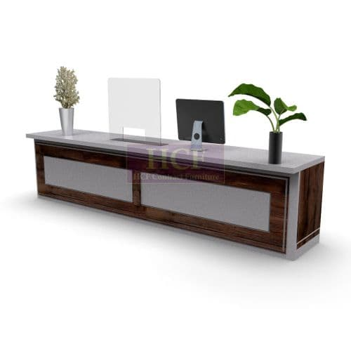 VirusGuard. Reception Counter & Desk Screens with Cut Out. 3 Sizes