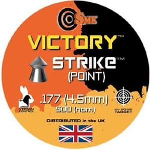 500 x SMK Victory Strike Pointed Air Rifle Pellets,,Target -Hunting .177 - 4.5mm