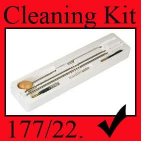 AIR RIFLE UNIVERSAL CLEANING KIT - .177 & .22 FREE POST