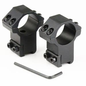 SMK Pair of 30mm Mount Rings for Large Tube 30/30 Scope 9-11mm Rails Air Rifle
