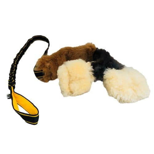 PawsMade The Waggle! - Extra long bungee, Squeaker, Sheep, Rabbit & Faux