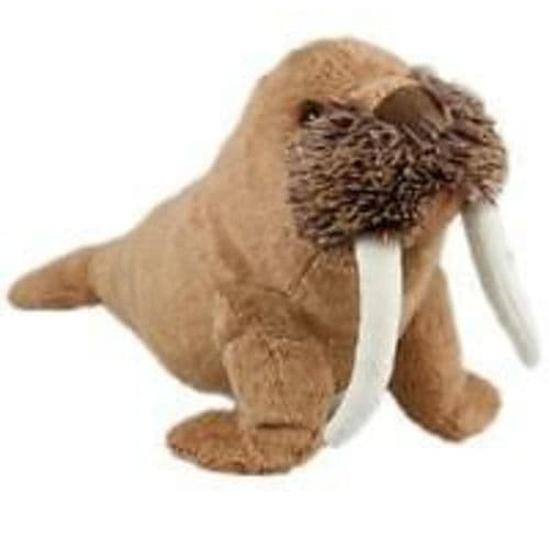 Animal Instincts Snow Mates Plush Soft Dog Toy Small Winston Walrus