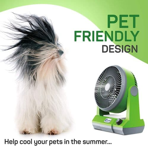 Anywhere Fan Portable Cordless Pet Dog Personal Desk Fan Quiet Crate office USB