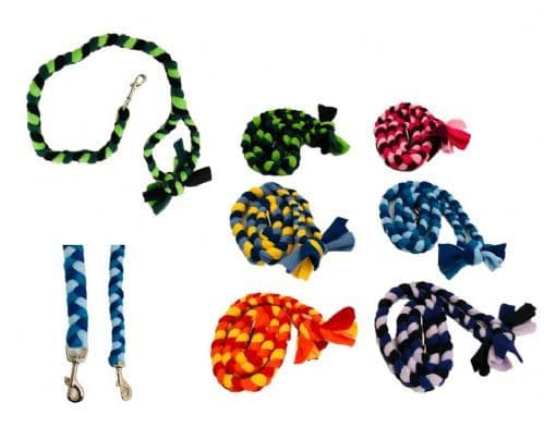 Paws Made Tight Plaited Dog Clip Fleece Lead Strong Puppy Colorful Agility Flyball