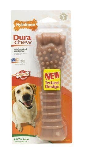 Bacon Flavour Souper Power Nylabone Dog Chew / Toy