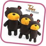 Beco Family Toby The Teddy Soft  Eco Friendly Toy For Dogs