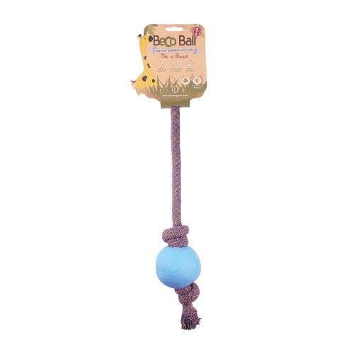 Beco Pets Eco Friendly Ball On A Rope Dog Toy