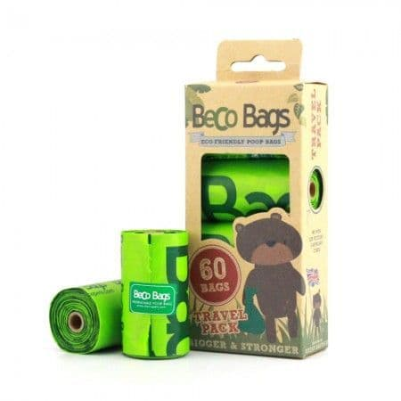 Beco Pets Eco Friendly Recycled Degradable  Beco Dog Poop Poo Bags Unscented  60 Pack