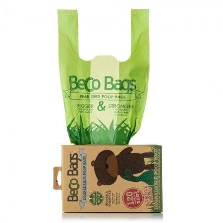 BECO UNSCENTED DEGRADABLE HANDLE POOP BAGS - 120 boxes