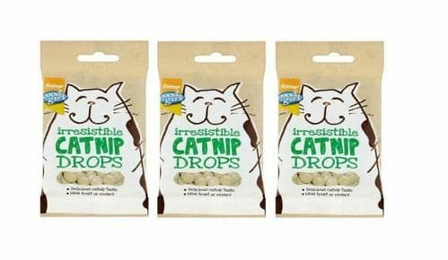 CATNIP DROPS packs of 40g Cat Treats GOOD GIRL Flavoured With REAL Catnip