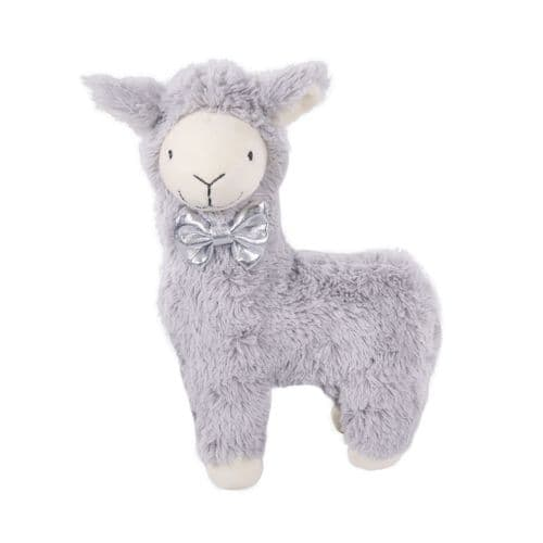 Cupid & Comet Christmas Grey Plush Lama Dog  Toy