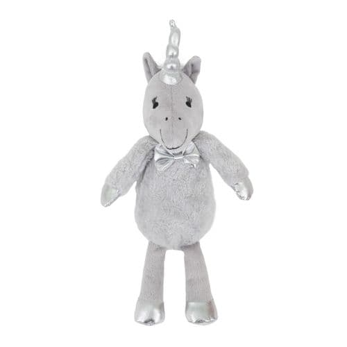 Cupid & Comet Christmas Silver Unicorn Dog Plush Toy